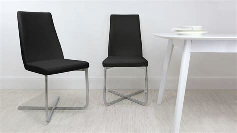 cantilever dining chair faux leather uk