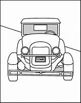 Coloring Pages Cars Colouring Template Clipart Antique Sheets Printable Hag Library Popular sketch template