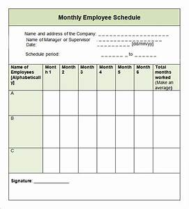 sample monthly schedule template 8 free documents in With example of work schedule template