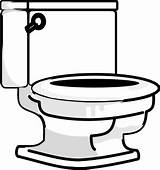 Bathroom Coloring Clipart Toilet Open Lid Seat sketch template