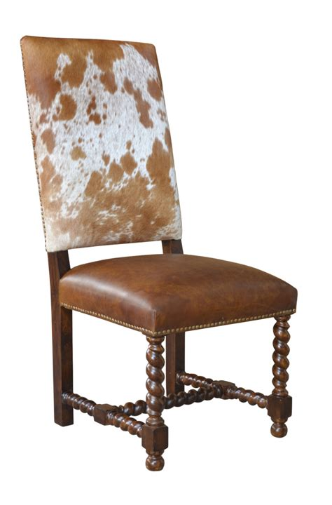 Cowhide Dining Chairs by Barley Twist Cowhide Dining Chair Proffitt
