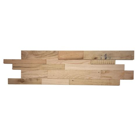 home depot reclaimed wood reclaimed 1 in x 39 5 in x 11 5 in heirloom american barn wood wall panel abc brn heir the