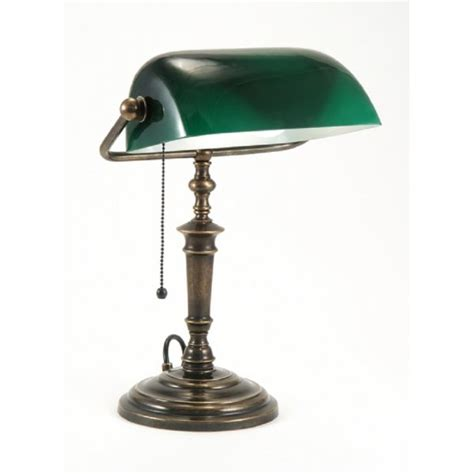 green desk l shade traditional solid brass bankers l green glass shade