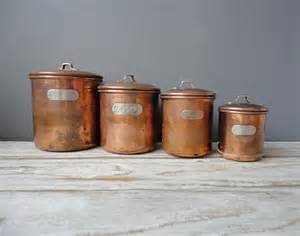 set of copper nesting kitchen canisters - Copper Kitchen Canisters