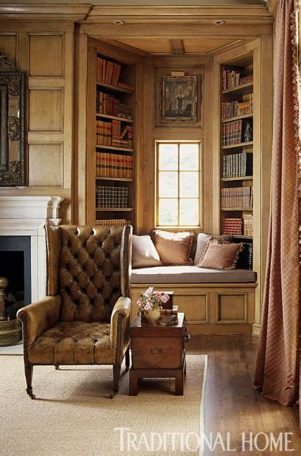 Handsome Traditional Townhome by How Handsome A Cozy Window Seat Surrounded By Book Lined