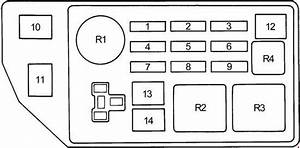 Toyota Camry  1991 - 1996  - Fuse Box Diagram