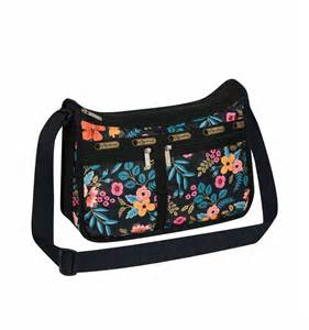 instead of a card bring a book deluxe everyday bag marion floral by lesportsac imported