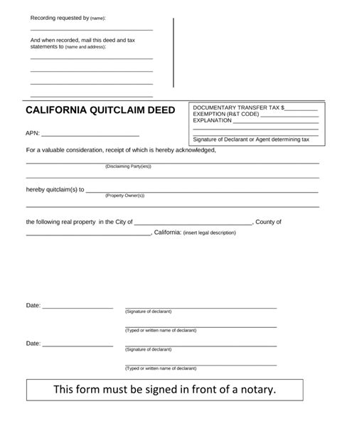 quit claim deed form iowa pdf free california quit claim deed form pdf word eforms