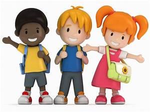 3d cartoon school kids clipart | Indesign Arts and Crafts ...
