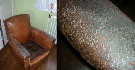 comment refaire un canap en cuir restauration fauteuil en cuir