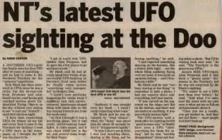 Alien Sightings Newspaper Articles