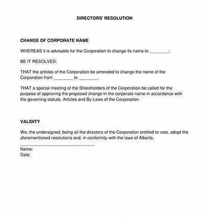 Directors Resolution Template Legal Sample Word Pdf