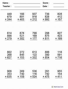 Mathematics Worksheet For Highschool Students ...