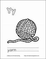 Coloring Yarn Pages Ball Letter Printable Colouring Books Sheets Drawing Cat Letters Yarns Homeschooling sketch template
