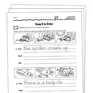 sequencing grade 1 collection printable leveled learning