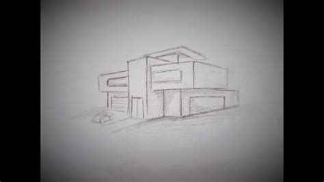 Modernes Haus Zeichnen by How To Draw A Modern House