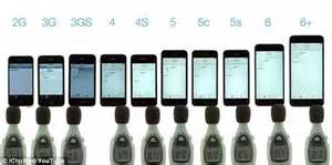 iphones in order speaker test ranks every iphone in order of loudness