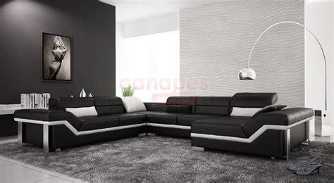 photos canap 233 design pas cher noir et blanc