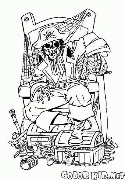 Pirate Skeleton Coloring Colorear Esqueleto Colorare Pirata