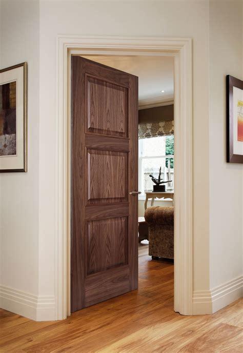 solid walnut veneer mdf 3 panel interior