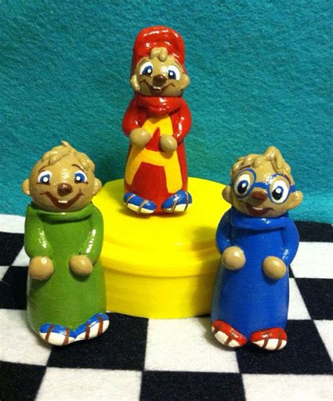 3dimensional vintage alvin and the chipmunks inspired peg