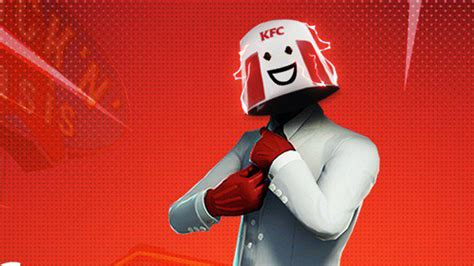 kfc gaming shares official chicken champ fortnite skin