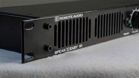 Remote Audio Speakeasy R1 Rack Mount Stereo Monitor Youtube