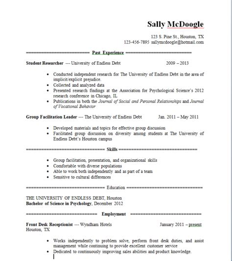 What Should I Include In My Resume For Graduate School by What Do I Put In A Resume Resume Ideas