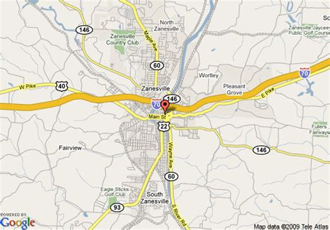 map  travelodge  zanesville zanesville