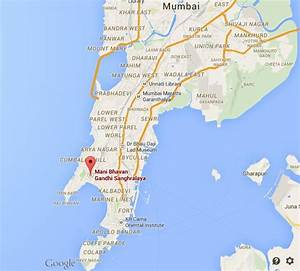Where is Mani Bhavan Museum on map Mumbai | World Easy Guides