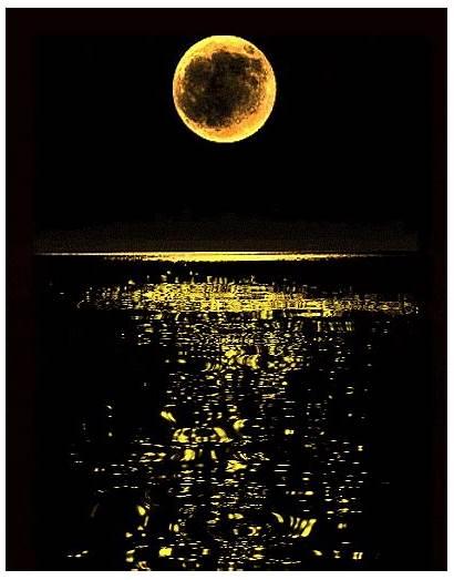Moon Night Goodnight Stars Cool Gifs Ocean