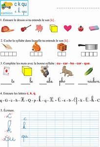 Mots Avec H : fiche d 39 exercices imprimer le son k apprendre lire ~ Medecine-chirurgie-esthetiques.com Avis de Voitures