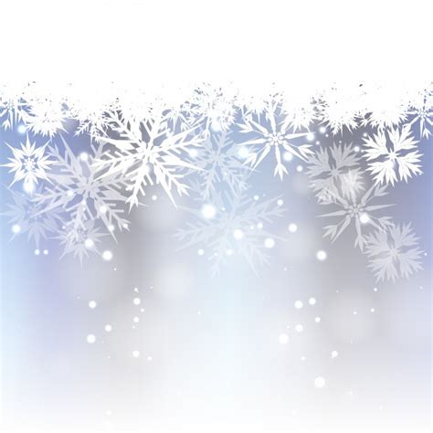 bokeh background with white snowflakes vector free download