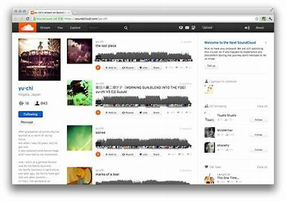 Soundcloud Interface Profile Screenshots Provides Digital Redesigned