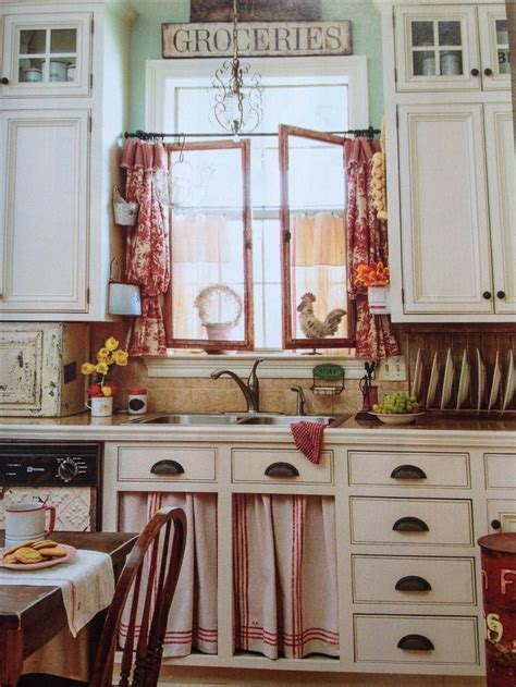 ideas  red country kitchens  pinterest