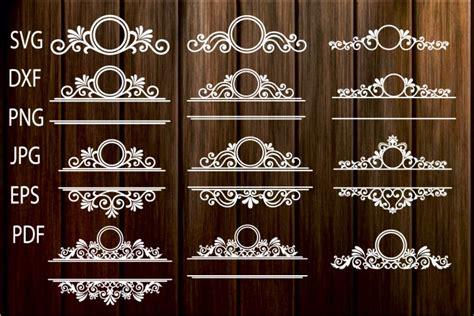 mailbox frame svg ornamental split frame svg flourish mailbox monogram monogram frame flourish