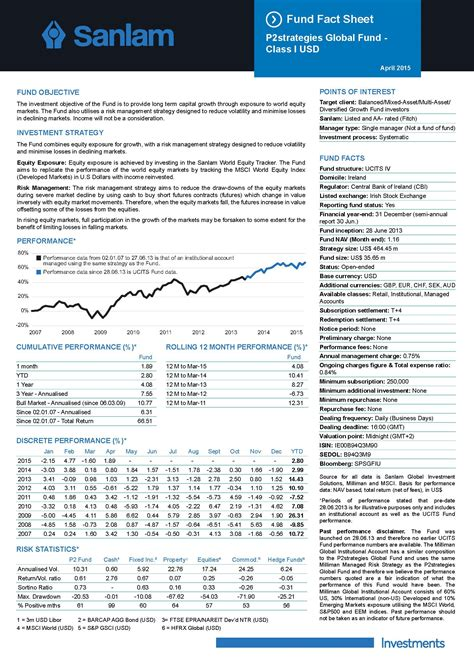fund fact sheet  template  format  databaseorg