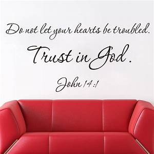 New designs christian quote wall decals trust is god