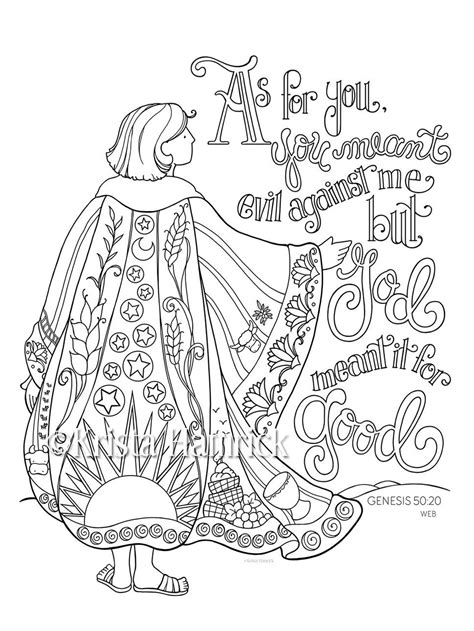 coat of many colors in the bible joseph s coat of many colors coloring page 8 5x11 bible
