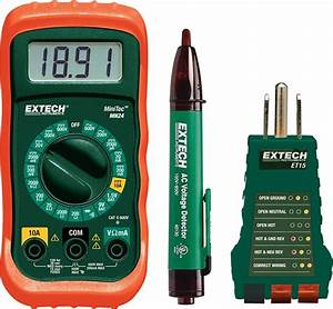 Extech Electrical Test Kit  With Multimeter  Voltage