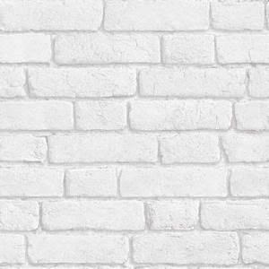 Papier Peint Trompe L Oeil Brique : papier peint briques blanches trompe l 39 oeil 07 ~ Premium-room.com Idées de Décoration