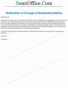 change of residential address letter With residential address lettering