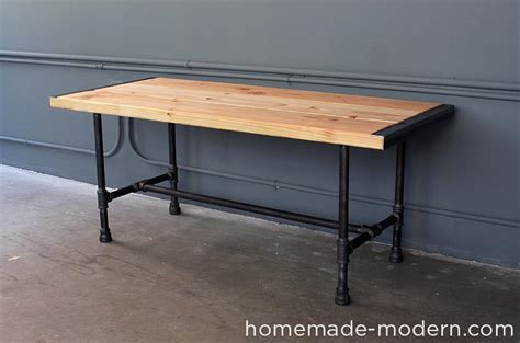 iron pipe desk plans homemade modern ep68 pipe coffee table