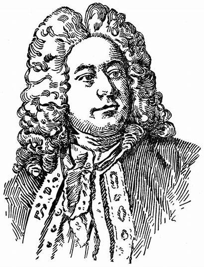 Handel Clipart Baroque George Composer Coloring Frederick