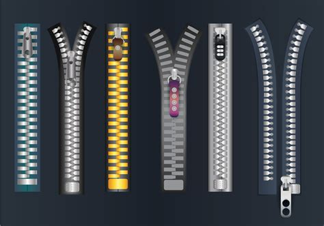 zipper pull vector   vector art stock