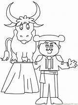 Coloring Matador Spain Spanish Printable Template Colouring Ferdinand Disabled Crafts Bullfighting Sheets Coloringpages101 Krusedulletegninger Kruseduller Spanien Sketch Popular Sketches Peoples sketch template