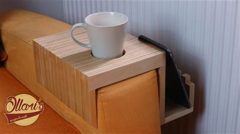 making  plywood sofa tray drink holder youtube