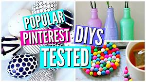 DIY Pinterest Room Decor TESTED - YouTube