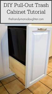 DIY Pull Out Trash Can Cabinet Tutorial - The Handyman's