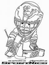 Hockey Coloring Goalie Mask Coloriage Imprimer Getdrawings Template sketch template